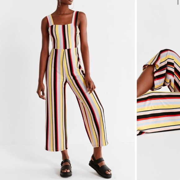515ba77718bf Urban Outfitters Delaney Striped Jumpsuit Small. M 5bc8c7dd04e33d5956a29a57